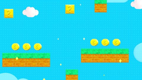 Classic retro video game style background. (Looped)