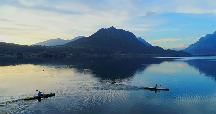 Kayaks on Lake Como