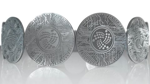 IOTA coin (MIOTA) or IOT cryptocurrency altcoin 3D Render.