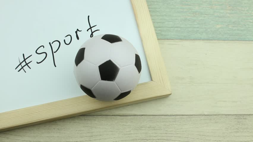 Hashtag sport and soccerball | Shutterstock HD Video #1008900299