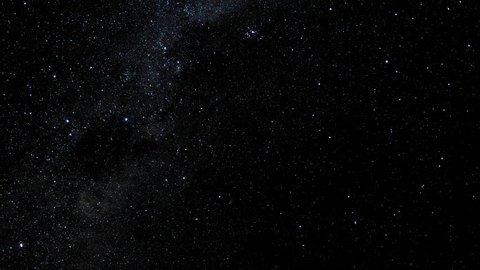 Astronomical time lapse in the Salar de Uyuni in Bolivia