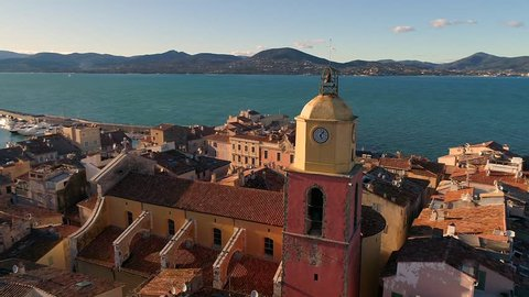 France, Aerial view of St Tropez, HDV movie (1920X1080)