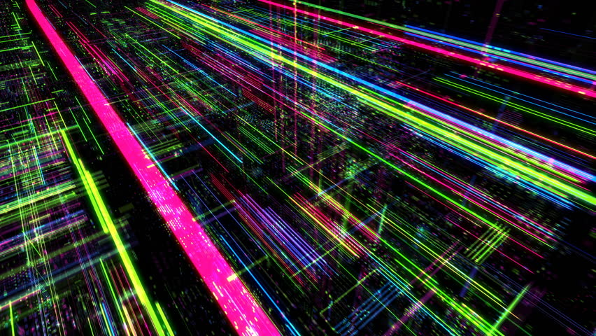 Abstract digital matrix particles grid virtual reality abstract cyber space science and technology background. Futuristic monitor with code and information hologram. 3D render 4K loop. | Shutterstock HD Video #1009333499