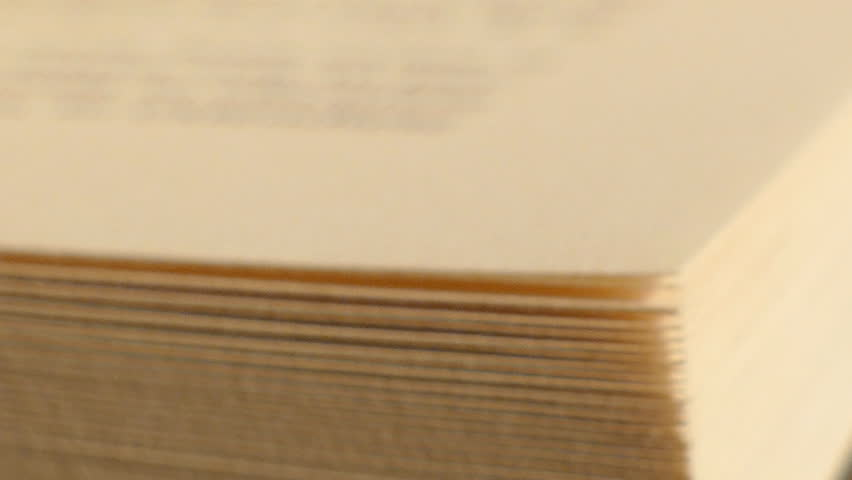 Book with turning pages, close-up