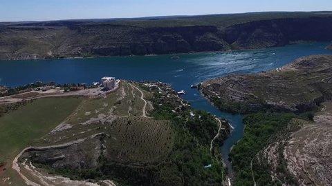 Firat River, Sanliurfa Air View Turkey Drone