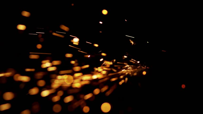 Abstract shape of splashing sparklets like comet tail straight to perspective | Shutterstock HD Video #1009498499