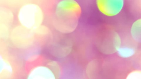 Golden Colorful blurred bokeh lights background. Abstract sparkles particle moving small large defocus different crystal plan video overlay blend screen modes, 4k copy space for text logo
