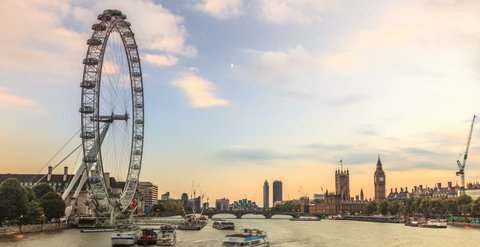 6k timelapse of Westiminster from day to night, London, UK