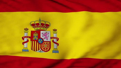 The Spain flag waving in the wind. The Spanish flag flaps in the breeze, filling the whole frame. See portfolio for similar and much more!