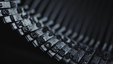 Close up view of old Typewriter details