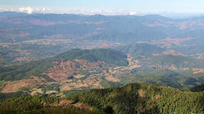 View from the top of the mountain on the Kew Mae Pan Nature Trail in Doi Inthanon National Park, Chiang Mai province, Thailand