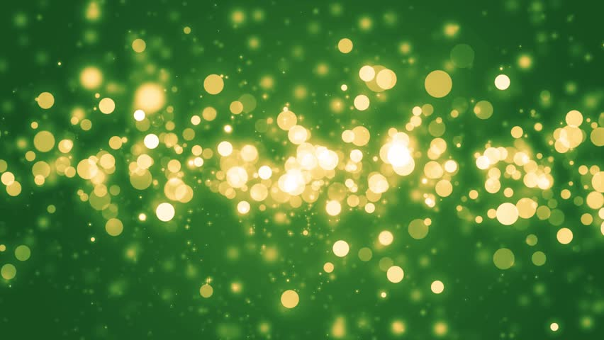 Lights Green Bokeh Background Elegant Gold Abstract Disco With Circles And Stars