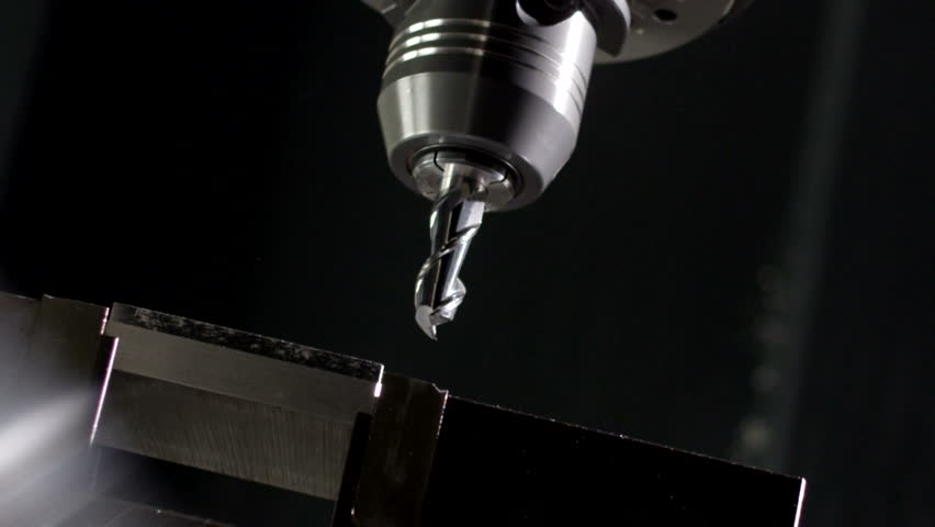 Milling metal withe a sns Milling machine   Shutterstock HD Video #1009683599