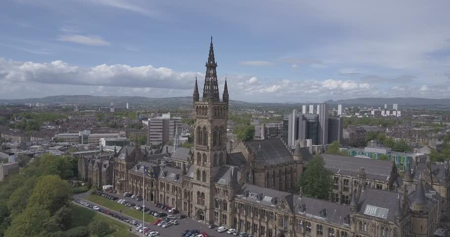 Glasgow City Skyline, Scotland in Summer. | Shutterstock HD Video #1009692659