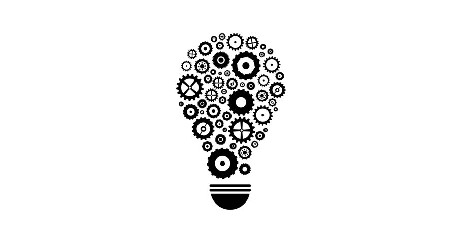 Cogs And Gears Spinning In Lightbulb Teamwork Idea Concept With Saved Alpha Channel | Shutterstock HD Video #1009707959