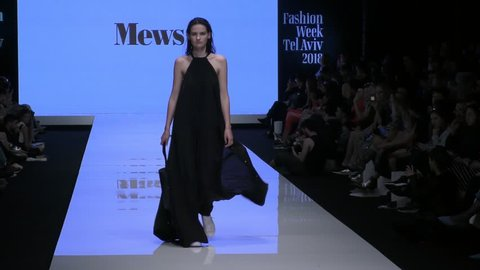 Supermodels present Haute Couture fashion by Mews on the runway during Tel Aviv Israel Fashion Week Tel Aviv Israel, March 13, 2018