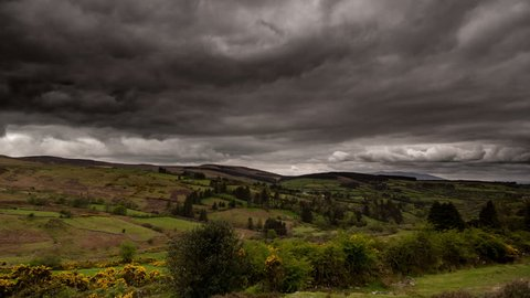 4k time lapse clouds over the Comeragh mountains, Ireland