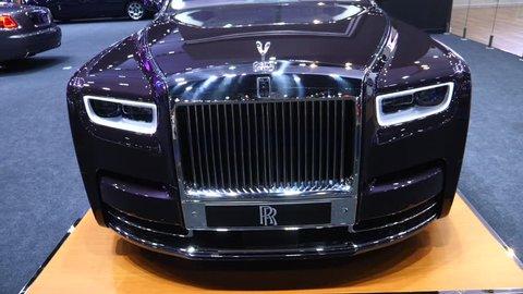 Luxury Rolls Royce Car Showcase At Motor Show. Bangkok, Thailand - April 08, 2018.