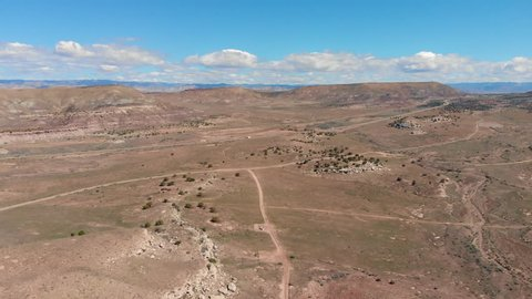 Drone footage captured in Rabbit Valley, CO near the Utah border.