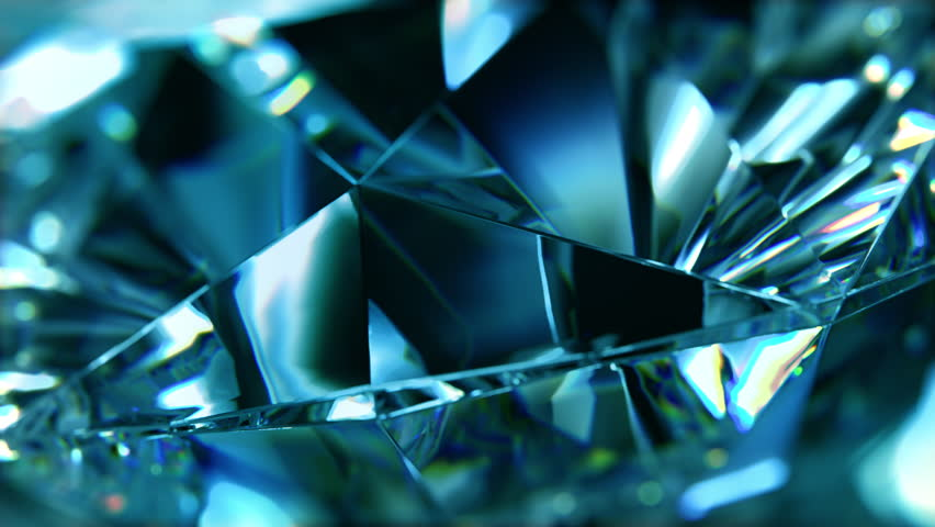 Close-up of slowly rotating blue diamond. Seamless loop, nice looping background. (4K,ultra high definition 2160p)