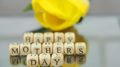 Mother's day. The inscription from the cubes is a happy mother's day.