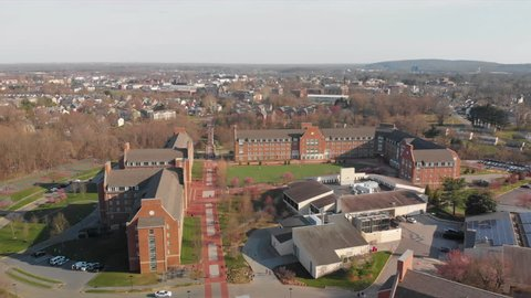 Aerial of the University Of Delaware United States, Newark