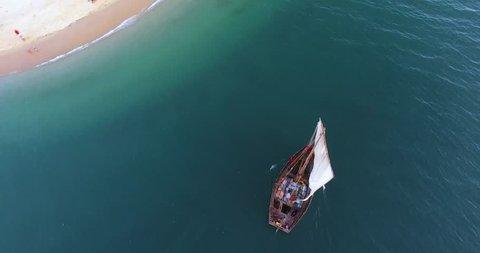 Fishermen dhow, Zanzibar