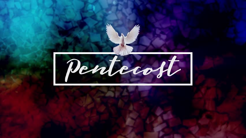 Colorful Pentecost Title Background Video Loop