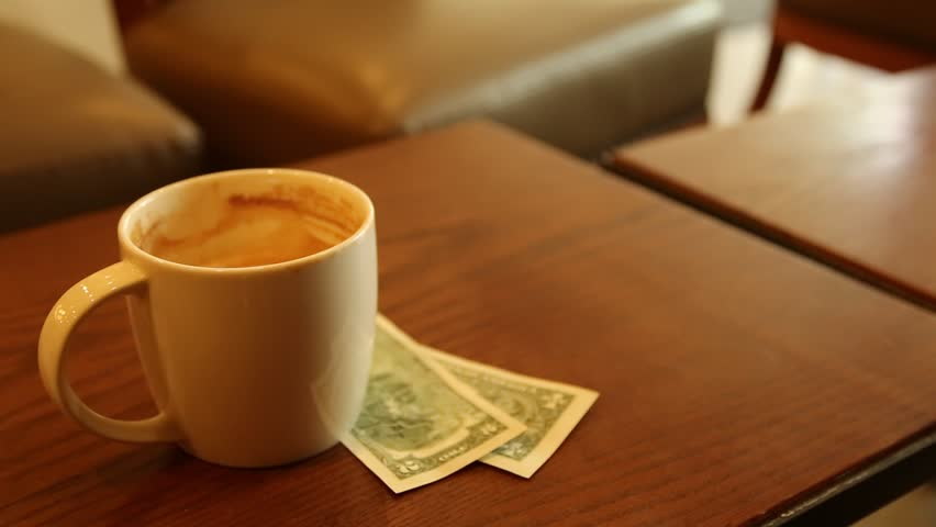 Coffee Newspaper money Business Concept in the morning | Shutterstock HD Video #1010073449