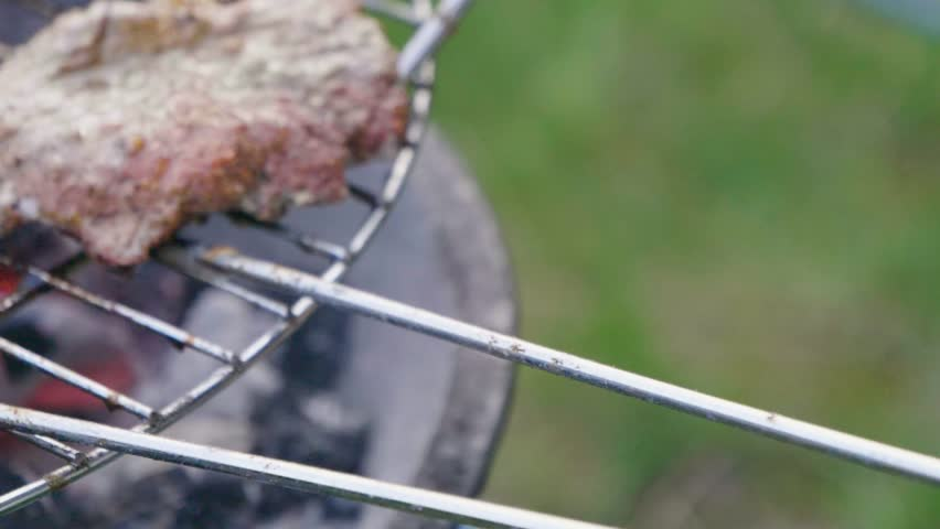 Grill BBQ slow motion serving the meats | Shutterstock HD Video #1010113379