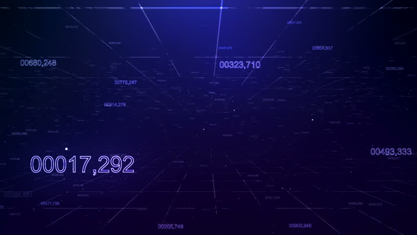 Data numbers from particles | Shutterstock HD Video #1010124689