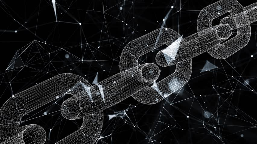 Artistic blockchain motion on cryptocurrency network animation background.  | Shutterstock HD Video #1010126969