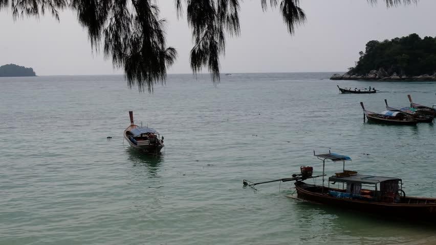 Floating boat - Lipe Island , Thailand
