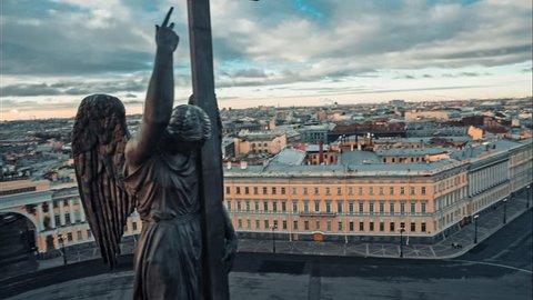 St. Petersburg, winter palace, palace square, Alexander Column
