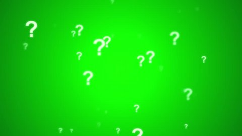 Question Mark Animated Looping Spin Background  Green