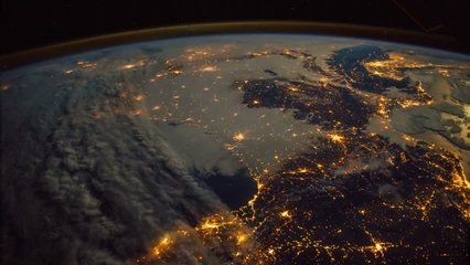 Planet Earth seen from the ISS. Elements of this video furnished by NASA.