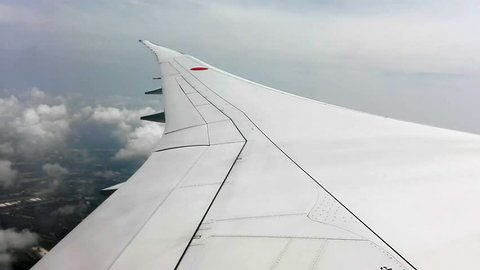 Wing of plane, take off