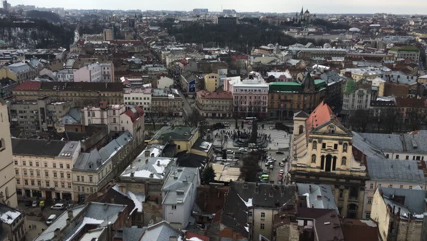 Panoramic view of the city Lviv, Ukraine