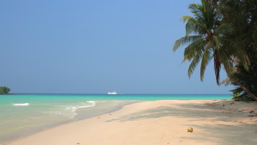 Tropical beach in sunny day | Shutterstock HD Video #1010480849