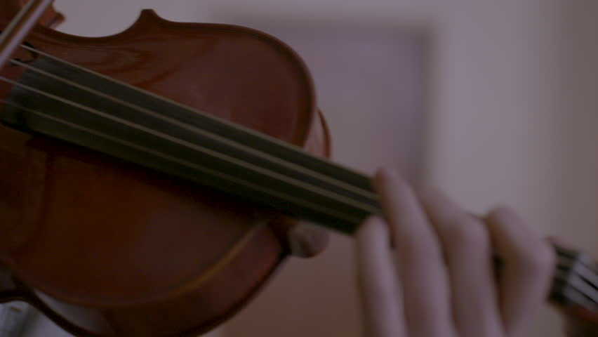 Close-up of violin being played HD stock video. Alexa camera