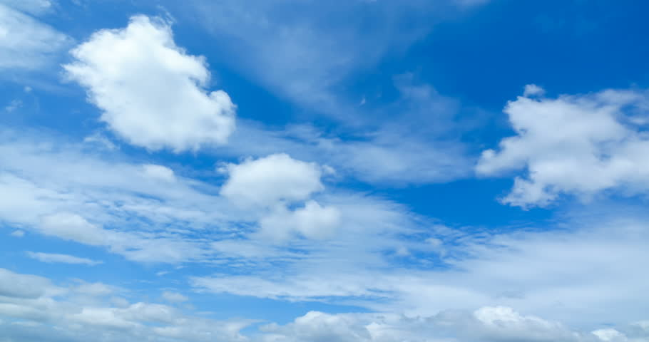 Beautiful cloud sky time lapse , cloudscape  in summer season 4K video #1010531459