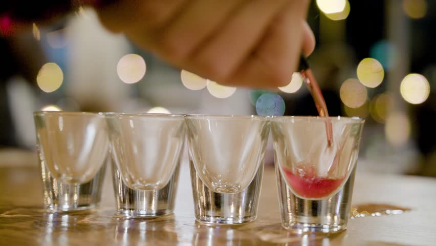 Pouring Alcohol Shots