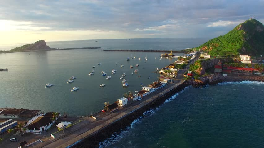 Mazatlan Mexico Aerial View Footage Sunset