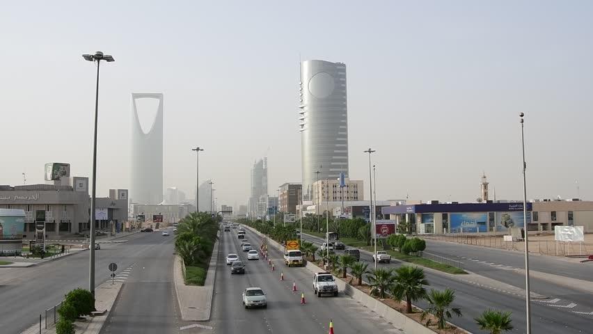 Riyadh, Saudi Arabia – May 5th 2018: Main Road in Riyadh City (Morning). Saudi Arabia