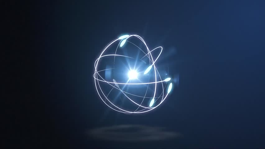 atoms electrons logo animation