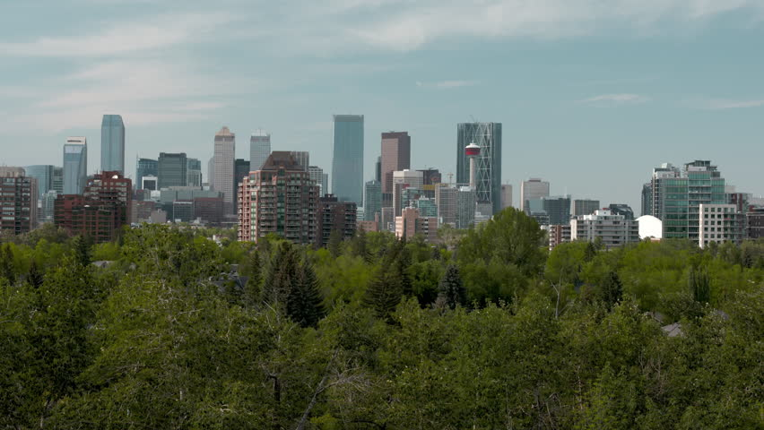 Calgary Skyline in the Summer