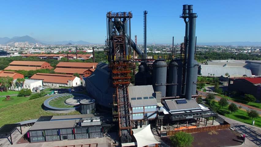 Parque Fundidora Monterrey Aerial View Drone Footage