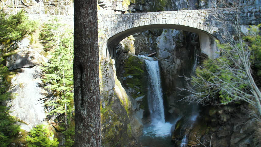 Christine Falls Mt Rainier Waterfalls Under Bridge