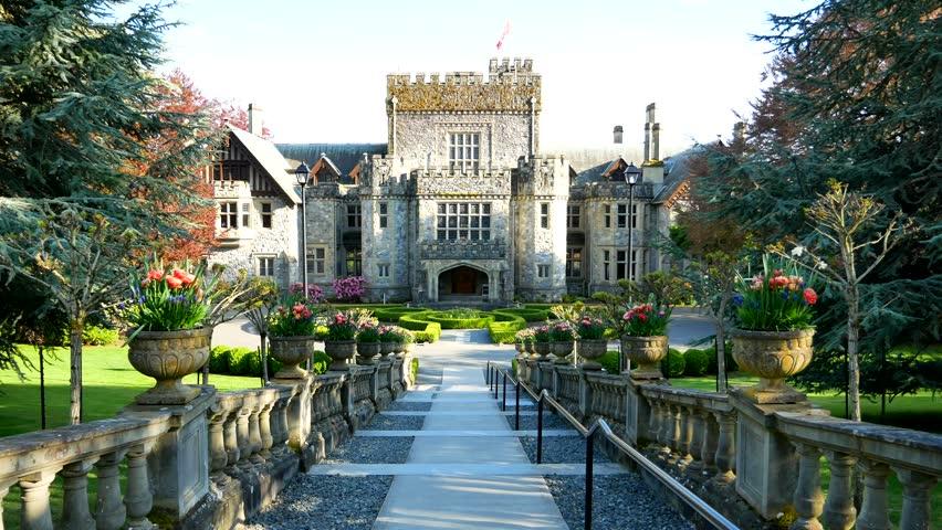 Hatley Castle in Victoria BC Canada | Shutterstock HD Video #1010866949