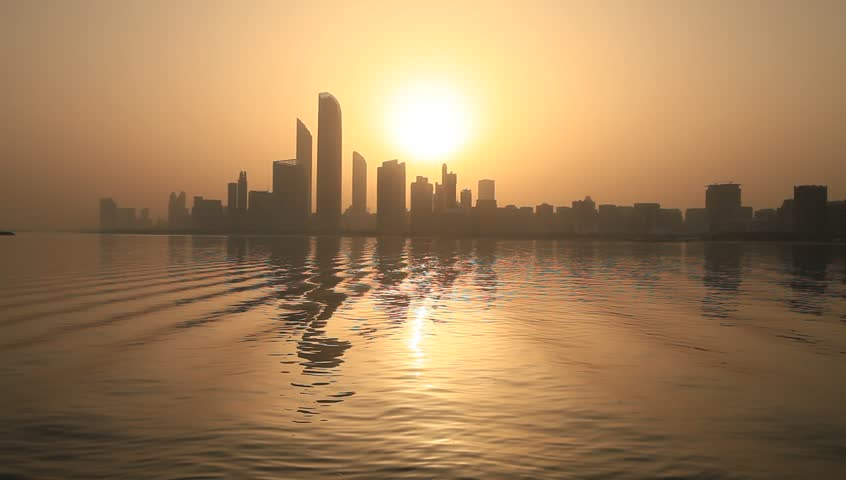 Sunrise in Abu Dhabi, United Arab Emirates
